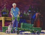 winemaker with dog