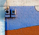 Blue & Orange Wall